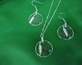 Dream Catcher  Sterling Silver Necklace and Earring Set