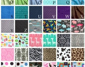 Minky Personalized Blanket - DESIGN YOUR OWN - Choose Any Colors - Personalized Minky Blanket