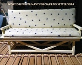 Indoor/Outdoor Dollhouse Sofa or Settee Signed/Dated 1/12 Scale Miniature