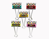 "Teacher Gift Organizer Personalized Binder Clips 2"" wide Owls All in A Row Monday - Friday"