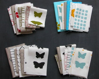 sample packs - hand screen printed fabrics on linen and cotton