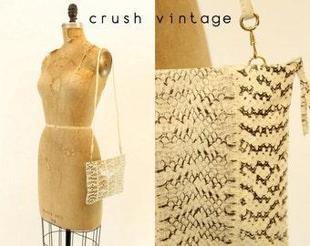 80s Purse Snake Crossbody / 1980s Vintage Clutch / Serpiente Purse