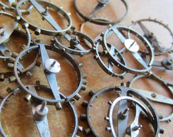 Vintage WATCH PARTS gears - Steampunk parts - p4 Listing is for all the watch parts seen in photos