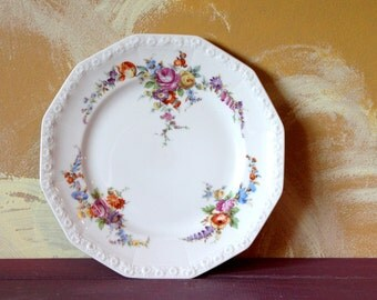 vintage floral plate,Rosenthale Selb Germany, Maria collection Plate, Pottery, plate decoration, home decor, collectible