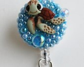 Finding Nemo Squirt  ID Badge Reel - RN ID Badge Holders - Zipperedheart