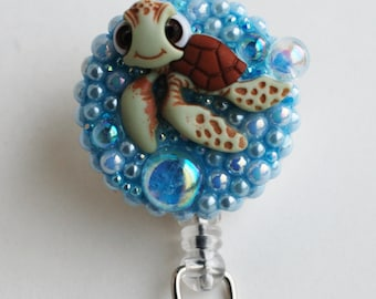 Finding Nemo Squirt  ID Badge Reel - Retractable ID Badge Holders - Zipperedheart