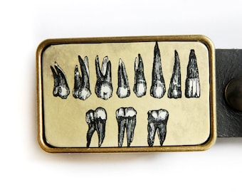 Teeth Belt Buckle Gothic and Weird