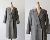 Cashmere Coat / Grey Winter Coat / Dress Coat / 1970s Coat /  Double Breasted / Flint Gray