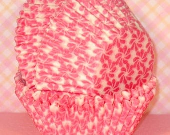 Pink Flower Cupcake Liners   (45)