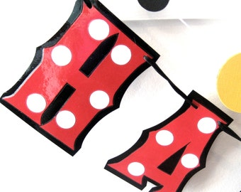 Mickey Mouse Birthday Banner, Mickey Mouse Party Banner, Mickey Mouse HAPPY BIRTHDAY Banner, Mickey Mouse Birthday Party, Polka Dot Birthday