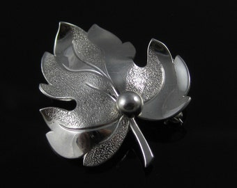 Vintage Forstner Sterling Silver Leaf Pin