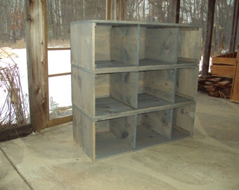 Cubby Storage Unit Bookcase entrywaycubbie Book shelf Reclaimed wood look SHABBY CHIC Contemporary wood wooden Entertainment Center Mini Bar