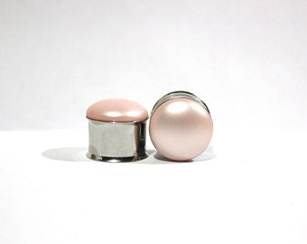"Pretty In Pink Pearl Plugs 3/4"" 19mm Matte Finish"