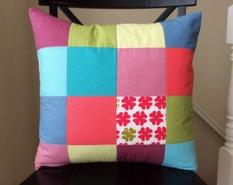 Wing It Patchwork Pillow Cover -- 18 Inch