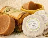 Shampoo Soap Lemon Blossom handmade Cold-Process Round Bar