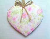 Large Pink Heart Ornament | Home Decor | Bridal/Wedding Party Favor | Handmade | Valentines Day | Tree Ornament | #2