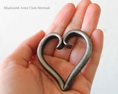 DIY heart necklace, heart charm, Valentine Iron heart ornament, you stole my heart, Iron anniversary gift,  gift for girl friend boy friend