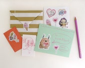 Sweet Love - 4x6 Sticker Pack - for Valentine's Day, Anniversaries, and DIY stationery