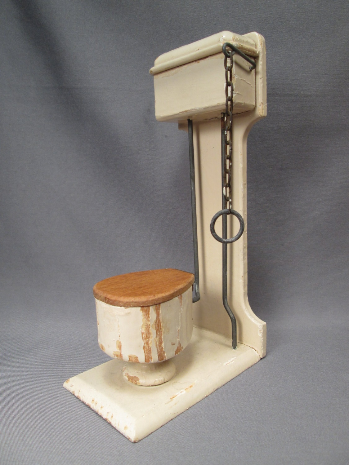 Reserved For M Antique Dollhouse Bathroom Furniture Toilet