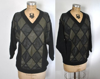 Leather Knit Sweater / S-L
