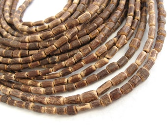 "Sigid Vine Wood Tube Beads 6mm - Eco Friendly Tube Beads 6mm - 16"" strand  (PC223B)"
