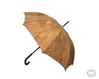 umbrella original cork and a wooden handle