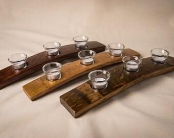 Napa Valley Barrel Stave Votive, 3 candle