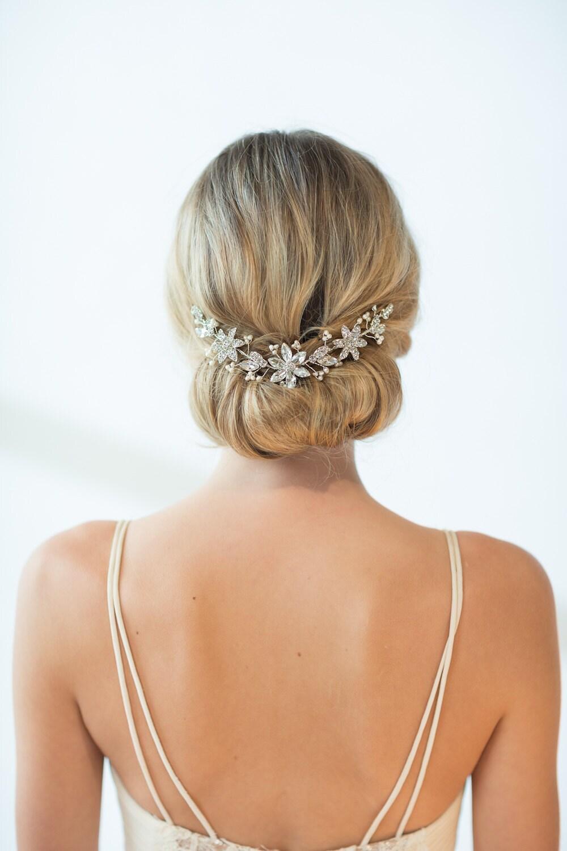 Bridal Hair Accessory Crystal Hair Swag Wedding Hair Vine