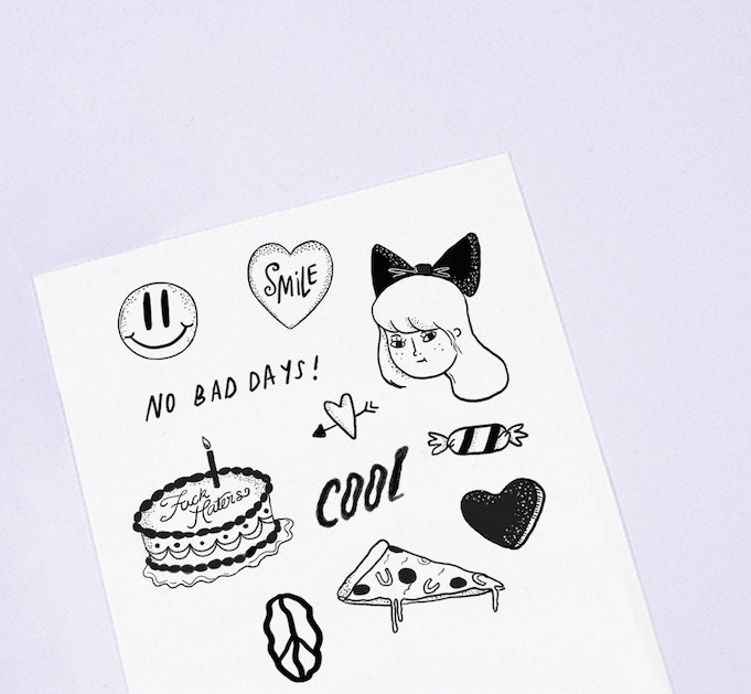 No bad days temporary tattoos by melissachaib on etsy for Vulgar temporary tattoos