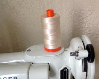 Our Favorite Machine Patchwork Thread Aurifil 50 weight cotton in color 2310 Beige