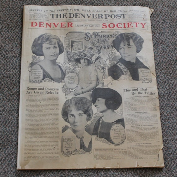 March 14 1926 Denver Post Newspaper Paper 20s By