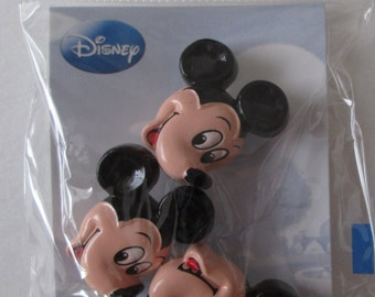 Disney Mickey Mouse, Side Face Sew-On Buttons, Pack of 3