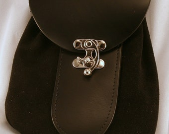 Medieval Leather Pirate Pouch SCA, LARP, STEAMPUNK
