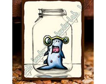 Shark Jr (Mason Jar Critter Art)