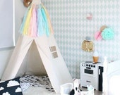 Teepee Tent - size BIG - Plain fabric tent and flags only