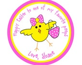 Personalized Stickers,Chevron stickers,Easter,Kids, Baby, Party, Favor stickers,Personalized Sticker Labels Set of 24