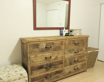YOUR Custom Rustic Barn Wood 6,8 or 10 Drawer Dresser with FREE SHIPPING