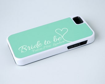 iPhone 6 Case Personalized Phone Case iPhone 5 Case iPhone 6 Plus Case Bride to Be Phone Case Android Samsung Galaxy Phone Case Mint