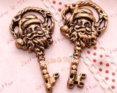 Christmas Santa Key Cabochon / Christmas Onament / Christmas Decor | Christmas Hanging - 5pcs