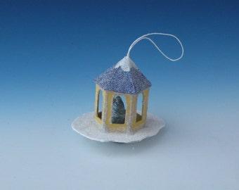 Gazebo with Christmas Tree, Small Scale House, Tiny House