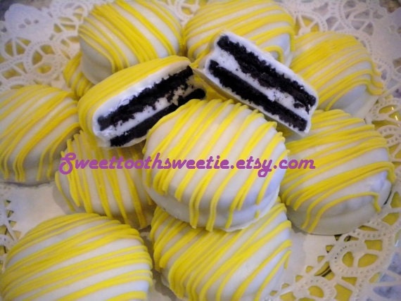 Yellow  Chocolate Covered Oreos Cookies You Are My Sunshine Baby Shower Wedding Favors Yellow Party Favors Sweet 16 Cookies Baptism Cookies