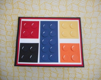Lego Birthday card all stampin up products
