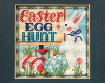 Mill Hill Buttons & Beads Spring Series, Egg Hunt MH14-5106, Easter Counted Cross Stitch Kit