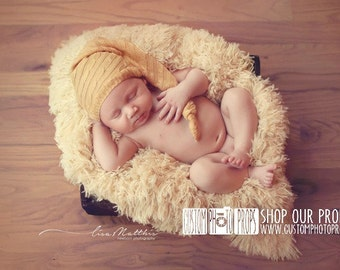 CLEARANCE-Buttercup Yellow Faux FUR Newborn Baby Photo Props, Baby Props, Basket Stuffer, Fur, Neutral, Very SoFT, Baby Boy, Girl, Blanket