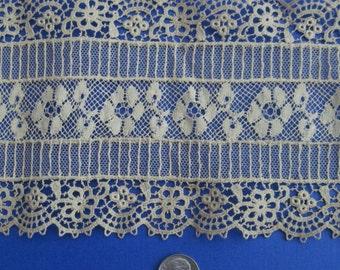 Beautiful Antique Ecru Lace