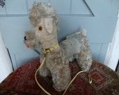 Vintage French Poodle Dog / Straw Filled Plushy Toy / Large & Pre Loved / A Paris Poodle just for you!