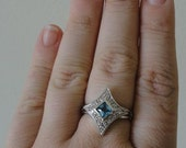 Blue Star Ring OOAK