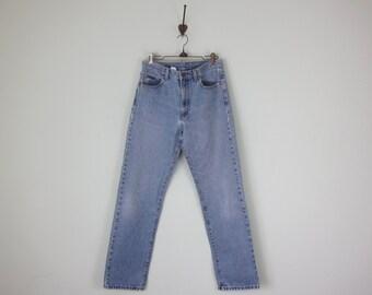 80s Calvin Klein CK Classic Denim Light Wash Blue Jeans High Waist 30