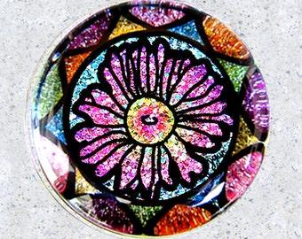 Glitter Art Daisy Paperweight
