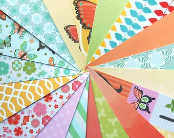 DESTASH - Craft Smith: Flutterbloom - Pack of 18 Different Scrapbook Papers, 6 inch X 6 inch
